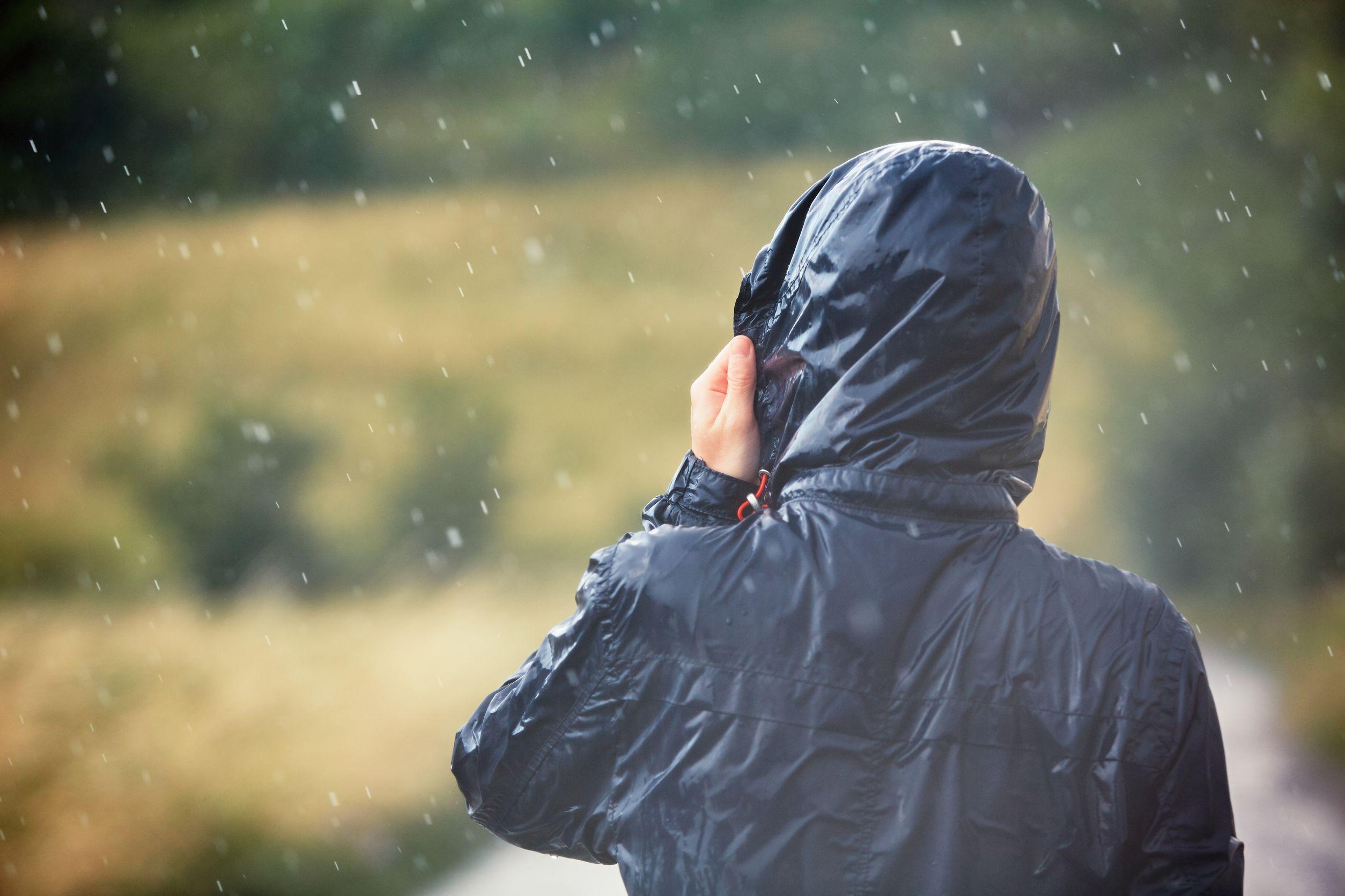Matedepreso Damen Wasserdichter Regenmantel Outdoor Kapuze Regenjacke Lange Windbreaker Reisejacke f/ür Outdoor Wandern Sport