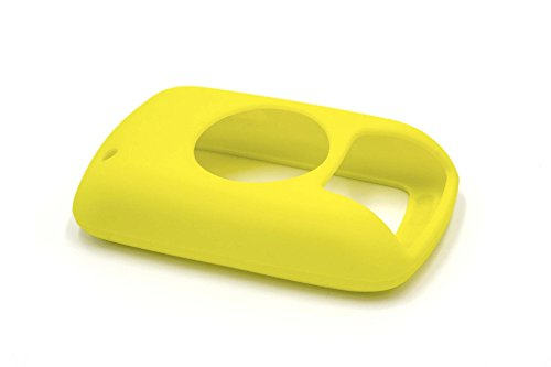 vhbw Hülle kompatibel mit Garmin Edge 800, 810 Fahrrad Navi GPS - Cover, Gelb, Silikon