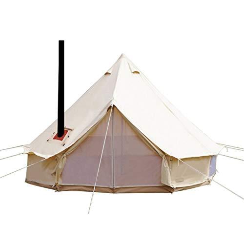 Sport Tent-wasserdichte Campingzelt Familienzelt Baumwolle Tipi Zelt mit Herdheber/Lochrohrentlüftung Indiana Zelt 4M Bell Tent Teepee Pyramidenzelt 4 M