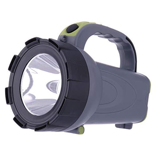EMOS Wiederaufladbarer LED Handscheinwerfer/Taschenlampe/Laterne/Akkulampe, Arbeitsleuchte 300 lm, 370 m Leuchtweite, 24 St. Laufzeit, inkl. Netzteil,Green