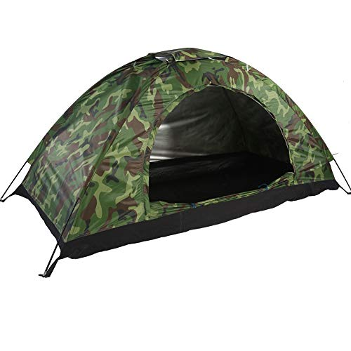 MAGT Camping-Zelt - Wasserdicht Eine Person Zelt- Außen Tarnung UV-Schutz for das kampierende Wandern (200 * 100 * 100 cm) (Farbe : Grün)