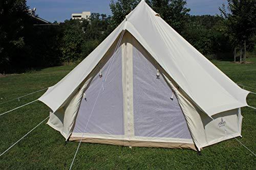 Herzog Tipi Zelt Cotton Baumwollzelt Sahara Zip 400 Tipizelt Pyramidenzelt Indianerzelt XXL Rundzelt Personenzelt Gruppenzelt Bell Tent Baumwollzelte Steilwand Zelt