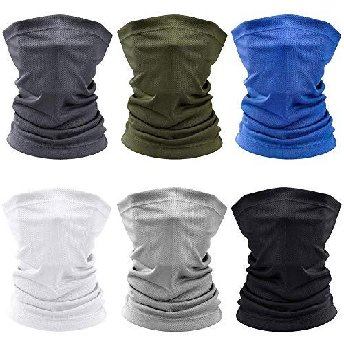 CXG 6 Stück Schlauchschal, Multifunktionstuch für Herren [UV-Beständig/Atmungsaktiv/Ultradünn] Bandana Mundschutz, Loop Schal Herren - für Laufen Wandern Radfahren Motorradfahren