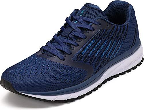 WHITIN Unisex Laufschuhe Herren Hallenschuhe Turnschuhe Sneakers Für Männer Sportschuhe Atmungsaktiv Joggingschuhe Fitness Schuhe Freizeitschuhe Blau Größe 45