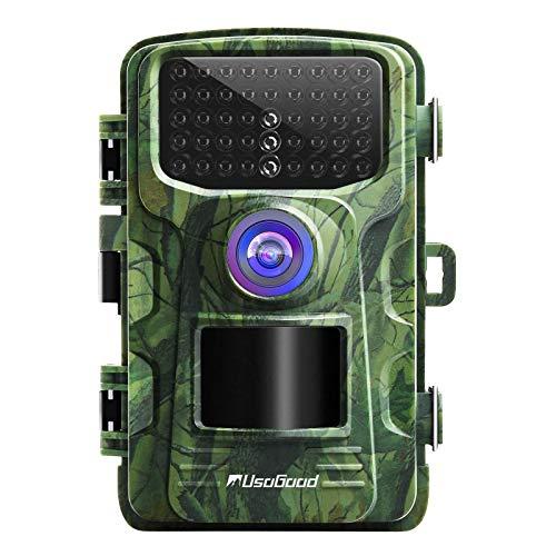 usogood 20MP 1080P Wildkamera mit Bewegungsmelder Nachtsicht Wildtierkamera Zeitraffer Jagdkamera Infrarot Überwachung mit 940nm IR LEDs, wasserdichte IP66, 2,4