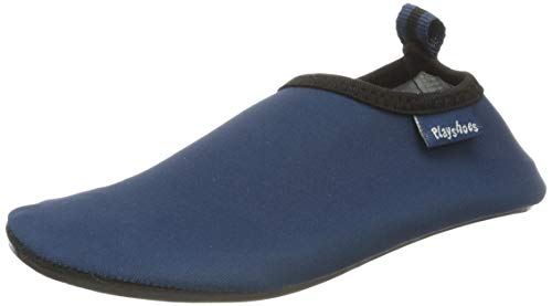 Playshoes Unisex-Kinder Badeslipper Aqua-Schuhe, Blau (Marine), 22/23 EU