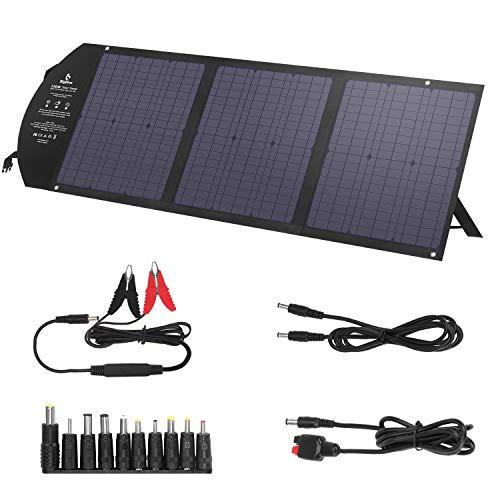 BigBlue 120W Solar Ladegerät mit DC-Anschluss + PD 60W Typ-C + 2 USB-Ausgang, 18V Solarpanel für Powerstation, Schnellladun Notstromversorgung für Tablet, Handy, iPad usw.