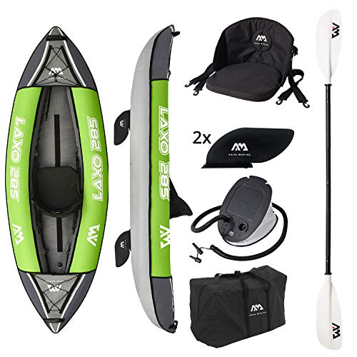 Aquamarina Unisex– Erwachsene Kayak 1 Posto Laxo-285 Kajak, Grün Schwarz, Uni