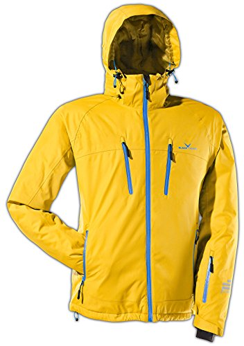 Black Crevice Herren Skijacke, Snowboardjacke; in 5 Farben; gelb/blau, Gr.54